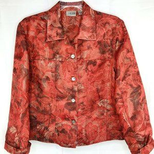 Chico's Women Size 1 (M/8) Red Light Jacket